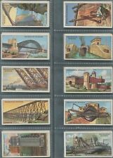 """WILLS: 1927 """"Engineering Wonders"""" complete set of (50) cards in EF condition."""
