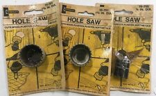 Lot Of 3 Vintage Nos Stanley Hole Saw Two 15-791 - 1 3/8� And One 15-795 - 7/8�