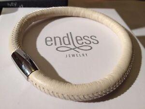 Endless Jewelry 21cm Nude Bracelet Single Strand Silver Clasp  rrp £40