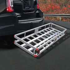 "60"" x 22"" Aluminum RV 2"" Hitch Mount Cargo Carrier Truck Luggage Basket 500LBS"