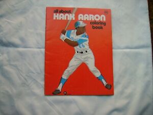 1974 All About Hank Aaron Coloring Book