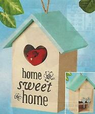 NEW Decorative Hand Painted Home Sweet Home Hide A Key Birdhouse