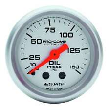 "Auto Meter 4323 Ultra-Lite Oil Pressure Gauge 2-1/16"" mechanical"