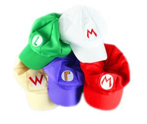 Super Mario Bros Adult Kids Anime Octagonal Hat Cap Fancy Dress Costume Hats  UK