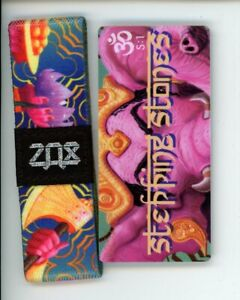 Medium ZOX Silver Strap STEPPING STONES Wristband & Card Season 1 Namaste