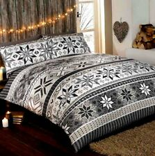 Stockholm 100 Cotton Flannelette Quilt Duvet Cover and 1 Pillowcase Bedding Bed