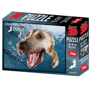 Underwater Dogs 3D Kids Puzzle 500pc Bella Diving Golden Retriever Labrador