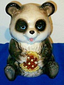 Rare vintage mint Panda Bear Lefton Cookie jar Retro kitchen Very Cute