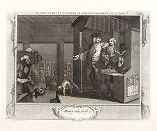 WEBFABRIK - Riepenhausen nach Hogarth - Industrious - Kupferstich 1747/1770