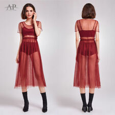 Mesh Long Nylon Dresses for Women