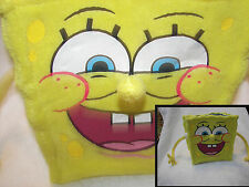 Sponge-Bob SquarePants  cloth purse hold his hands for handle  lined bag  8x9""