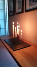 """Сandlestick Holder Stand """"Pranamat"""" for candles handmade metal steel wire"""
