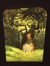 "John Millais ""Waiting"" English Pre-Raphaelite 35mm Art Slide. Rare"
