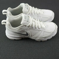 Nike T-Lite Xl Womens Size 6.5 White Leather Shoes Cross Training 616696-101