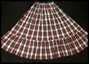 Tartan Maxi Skirt Sizes 6-16 available various lengths . Others sizes on request