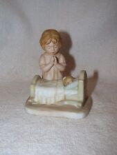 """Enesco Treasured Memories Bisque Figurines """"Bed Time Prayer"""" 1982"""