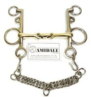 AMIDALE MOUTH PELHAM DOUBLE JOINTED LOZENGE COPPER MIX HORSE BIT BNWT