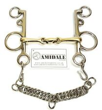 AMIDALE MOUTH PELHAM DOUBLE JOINTED LOZENGE COPPER MIX HORSE BIT BNWT