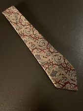 "vtg 60s Key & Lockwood 100% Silk Tie Necktie Paisley Foulard 59"" 3.25"""