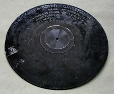 Christian Marclay, 1985: Record Without a Cover;  rare vinyl LP;  Conceptual Art