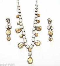 Crystal Women Silver Asian Jewellery Sets