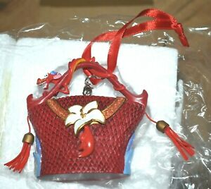Disney Store Mushu Handbag hanging ornament Mulan Dragon Christmas decoration 1