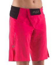 Ryu Womans Onna Fight Shorts Cross Fit Mma Pink Black Xs New