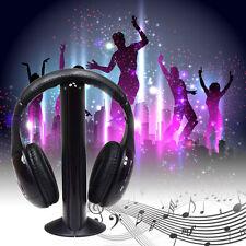5 in 1 HiFi Wireless Headset FM Radio Monitor MP3 PC TV Audio Mobile Phones New