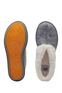 Clarks Cloudsteppers Step Flow Low Grey Booties Slipper US 8 UK 5.5 EU 39