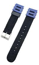 Timex ADVENTURER® Black & Blue 20mm Nylon & Resin/PVC Replacement Watch Band