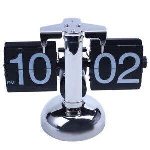Retro Flip Down Durchblaetternde Uhr Innengetriebe betrieben M8S1