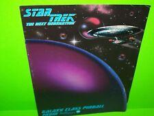 Star Trek The Next Generation 1993 Pinball Machine Flyer Space Age Art Foldout