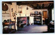 Buckman Tavern Kitchen Lexington Massachusetts Vintage Postcard E10