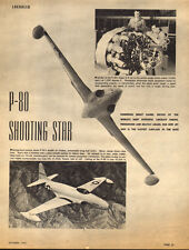 1945 print photos LOCKHEED P-80 Shooting Star F-80 1st US Jet Fighter  022515