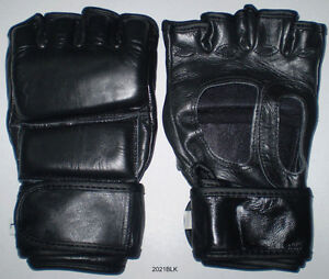 MMA Gloves in Leather. New - Fast Shipping.