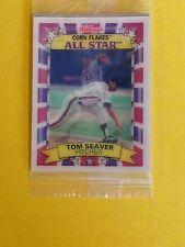 1992 New Sealed 3D Tom Seaver Baseball Card Mets Kellogg's Corn Flakes All Star