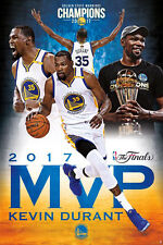 KEVIN DURANT 2017 NBA FINALS MVP Golden State Warriors Commemorative Wall POSTER