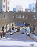 Montreal Scene, University Ave, 8x10 Oil , Darlene Young Canadian Artist