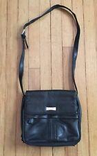 Hush Puppies Purse Handbag Black Genuine Leather Women's Shoulder Bag Large