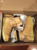 Nike SF-AF1 Air Force 1 High Wheat Club Gold Men's Sneakers 864024-700 Size 12