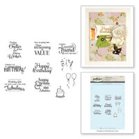 SPELLBINDERS 3D Cling Foam Stamp SPECIAL BIRTHDAY SENTIMENTS SBS-096 11 Stamps