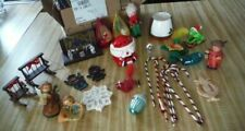 28 Vintage Christmas Ornaments plus other items
