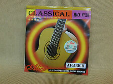 Alice A105BK-H (Black Nylon Hard Tension) Professional Classical Guitar Strings