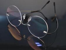 Flexible Rimless Titanium Round Vintage Retro Eyeglasses frames Eyewear Glasses