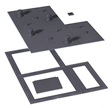 HO Flat Roof & Base - Modulars(TM) -- Kit from Walthers Cornerstone
