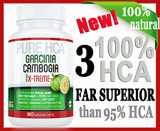 3 X 100% HCA ONLY one SUPERIOR than 85/95% HCA GARCINIA CAMBOGIA-WEIGHT LOSS