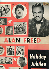 Alan Freed Concert Program 1950's Frankie Lymon Bobby Charles Holiday Jubilee