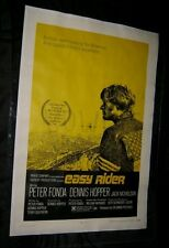 Original 1969 EASY RIDER Linen Backed Theatre Used 1 sheet MANAGER MARKED BACK
