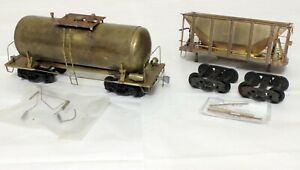 Max Gray Ore Car and Tiny Tank Fixer-Uppers - O Scale, 2-Rail BRASS (h)