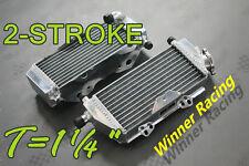 "T=1¼"" ALUMINUM ALLOY RADIATOR KAWASAKI KX250/KX 250R 2-stroke 249cc 2005-2007"